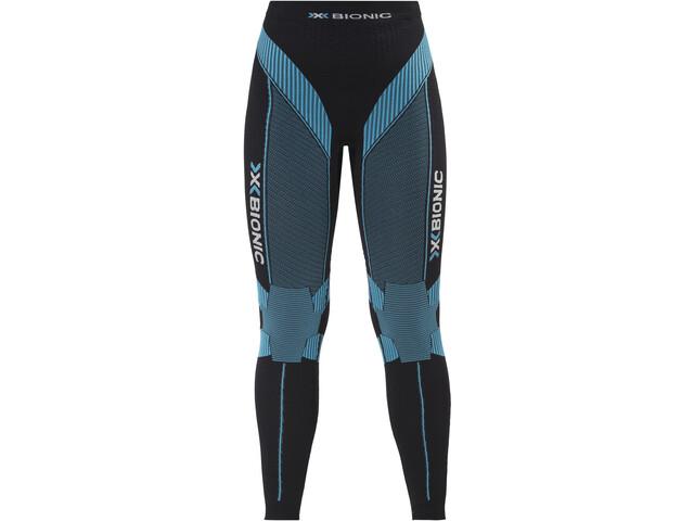 X-Bionic Running Effektor Power Spodnie długie Kobiety, black/turquoise